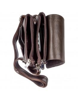 Вертикальная коричневая барсетка-сумка на плечо KARYA 17362