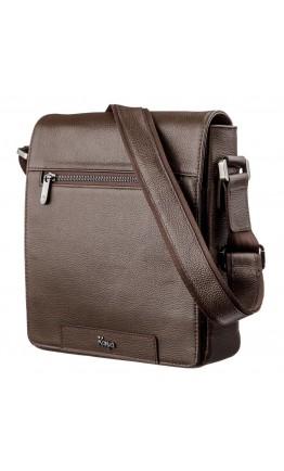 Мужская коричневая сумка на плечо с клапаном KARYA 17383