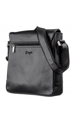 Мужская черная сумка на плечо с клапаном KARYA 17384