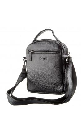 Мужская черная фирменная сумка на плечо KARYA 17387