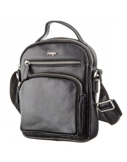 Фотография Мужская черная фирменная сумка на плечо KARYA 17387