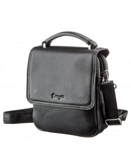 Черная мужская сумка на плечо на 2 отделения KARYA 17389
