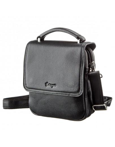 Фотография Черная мужская сумка на плечо на 2 отделения KARYA 17389