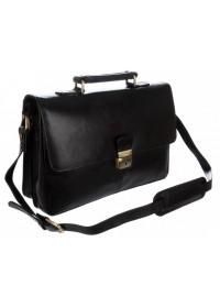 Кожаный мужской портфель, черный Visconti 18074