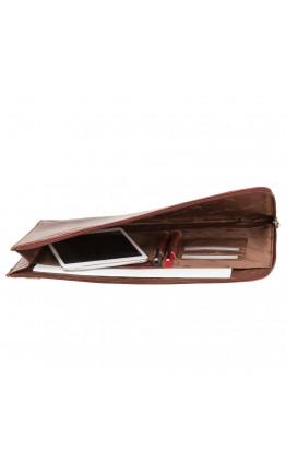 Мужская кожаная коричневая папка для документов Visconti 18238 Bond (Tan)