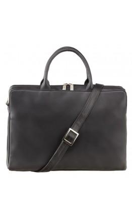 Черная женская кожаная сумка Visconti 18427 Ollie (L) (Black)