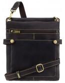 Фотография Темно-коричневая кожаная сумка планшетка Visconti 18512 - Neo (M) Slim Bag (Oil Brown)
