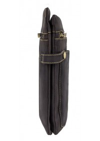Темно-коричневая кожаная сумка планшетка Visconti 18512 - Neo (M) Slim Bag (Oil Brown)