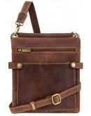 Фотография Планшетка кожаная коричневая на плечо Visconti 18512 - Neo (M) Slim Bag (Oil Tan)