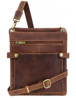 Планшетка кожаная коричневая на плечо Visconti 18512 - Neo (M) Slim Bag (Oil Tan)