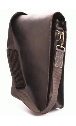 Темно-коричневая мужская сумка на плечо Visconti 18563 Leo (Oil Brown)