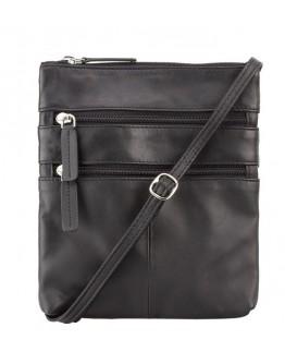 Черная наплечная сумка Visconti 18606 Slim Bag (Black)