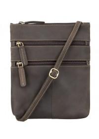Коричневая сумка на плечо Visconti 18606 Slim Bag (Oil Brown)