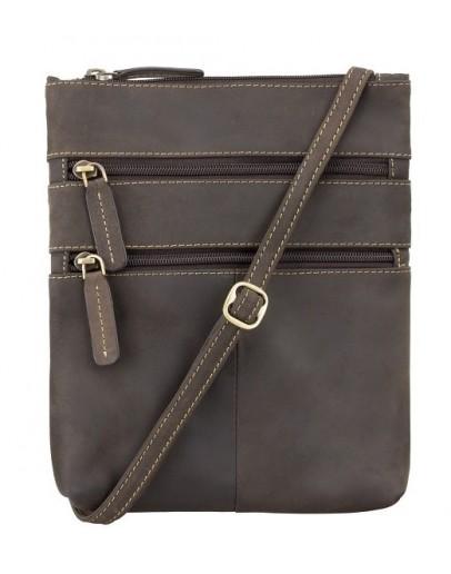 Фотография Коричневая сумка на плечо Visconti 18606 Slim Bag (Oil Brown)