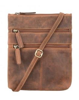 Рыжая сумка на плечо Visconti 18606 Slim Bag (Oil Tan)