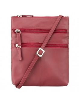Красная женская кожаная сумка Visconti 18606 Slim Bag (Red)