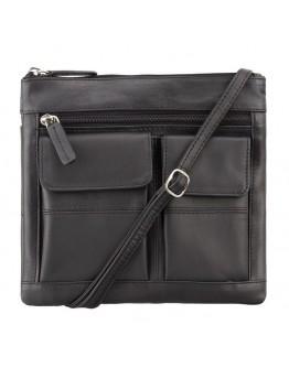 Черная сумка на плечо Visconti 18608 Slim Bag (Black)