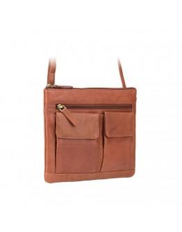 Мужская рыжая сумка на плечо Visconti 18608 Slim Bag (Brown)
