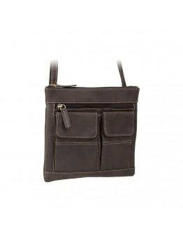 Темно-коричневая сумка на плечо Visconti 18608 Slim Bag (Oil Brown)
