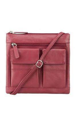 Красная женская сумка Visconti 18608 Slim Bag (Red)