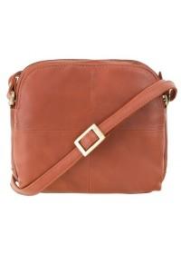 Коричневая женская кожаная небольшая сумка Visconti 18939 Holly (Brown)