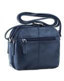 Фотография Синяя женская небольшая фирменная сумка Visconti 18939 Holly (Navy)