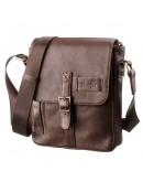 Фотография Мужская сумка на плечо коричневая SHVIGEL 19101