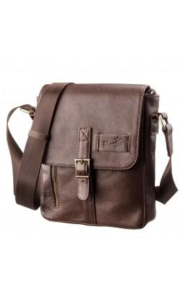 Мужская сумка на плечо коричневая SHVIGEL 19101
