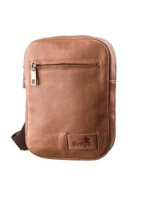 Мужская светло-коричневая мужская сумка на плечо SHVIGEL 19104