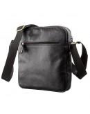 Фотография Черная кожаная мужская плечевая сумка SHVIGEL 19111