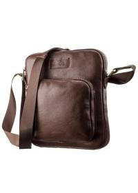Коричневая сумка на плечо для мужчины SHVIGEL 19112
