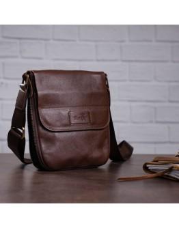 Коричневая небольшая сумка на плечо SHVIGEL 19114