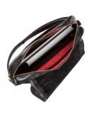 Фотография Черная мужская сумка на плечо формата А4 SHVIGEL 19116