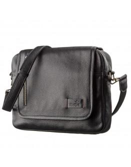 Черная мужская сумка на плечо формата А4 SHVIGEL 19116