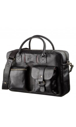 Мужская кожаная сумка для ноутбука дорожная SHVIGEL 19118