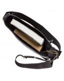 Фотография Черная мужская кожаная сумка планшетка SHVIGEL 19119