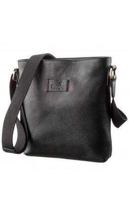 Черная мужская кожаная сумка планшетка SHVIGEL 19119
