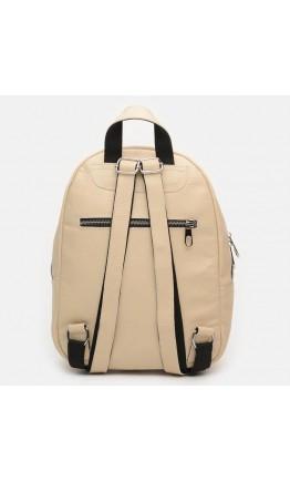Женский кожаный бежевый рюкзак Ricco Grande 1l600-beige