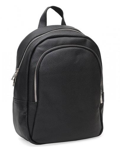 Фотография Женский кожаный рюкзак Ricco Grande 1l600-black