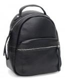 Фотография Кожаный женский черный рюкзачек Ricco Grande 1l605bl-black