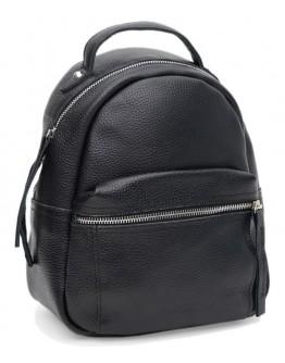 Кожаный женский черный рюкзачек Ricco Grande 1l605bl-black