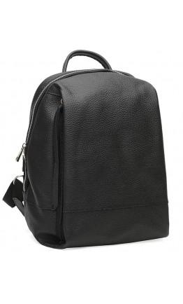 Кожаный черный женский рюкзак Ricco Grande 1l606-black