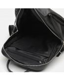 Фотография Кожаный черный женский рюкзак Ricco Grande 1l606-black