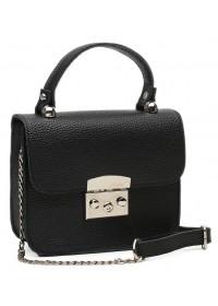 Небольшая женская кожаная сумка Ricco Grande 1l623-black