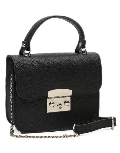Фотография Небольшая женская кожаная сумка Ricco Grande 1l623-black