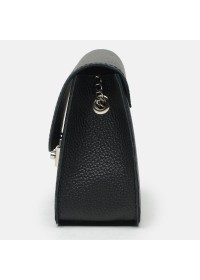 Женская кожаная черная сумка Ricco Grande 1l650-black