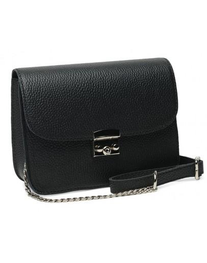 Фотография Женская кожаная черная сумка Ricco Grande 1l650-black