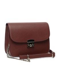 Женская кожаная бордовая сумка Ricco Grande 1l650-bordo