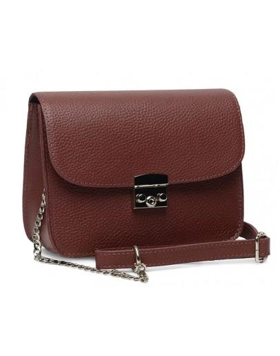 Фотография Женская кожаная бордовая сумка Ricco Grande 1l650-bordo