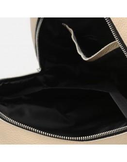 Кожаный женский рюкзак бежевого цвета Ricco Grande 1l655-beige